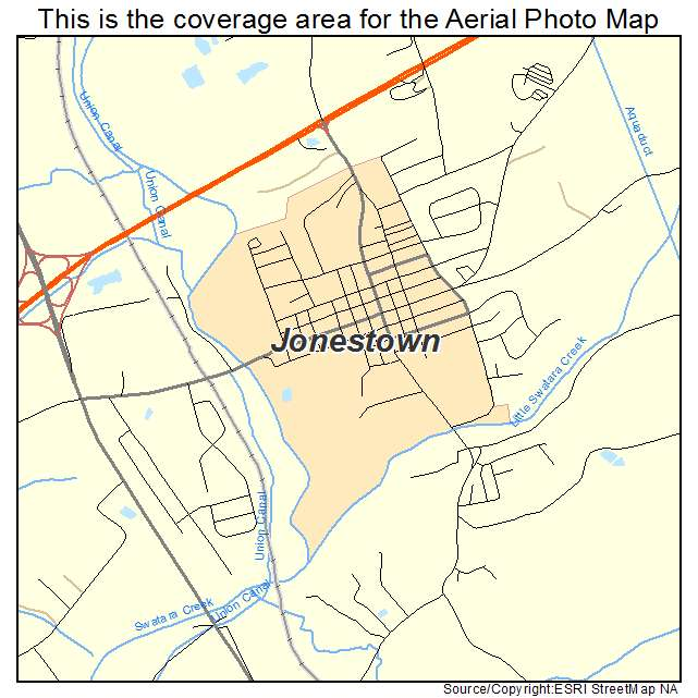 Aerial Photography Map of Jonestown PA Pennsylvania