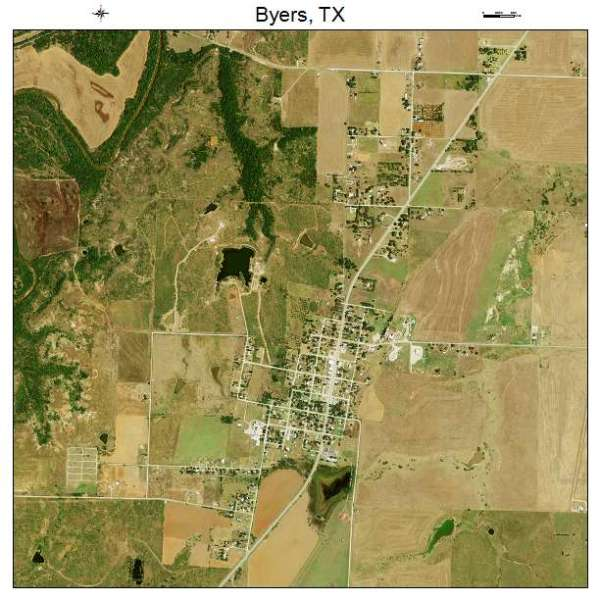 Aerial Photography Map of Byers TX Texas