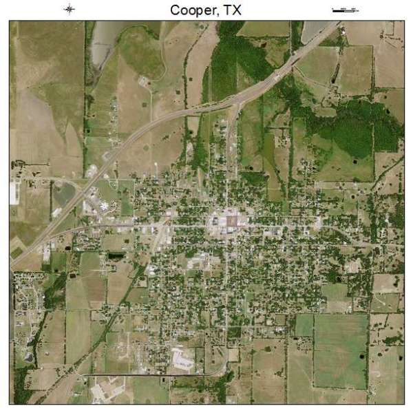 Aerial Photography Map of Cooper TX Texas