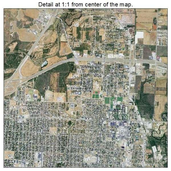 Aerial Photography Map of Abilene TX Texas
