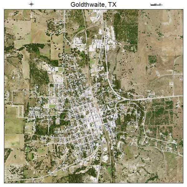 Aerial Photography Map of Goldthwaite TX Texas