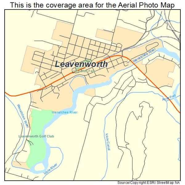 Aerial Photography Map of Leavenworth WA Washington