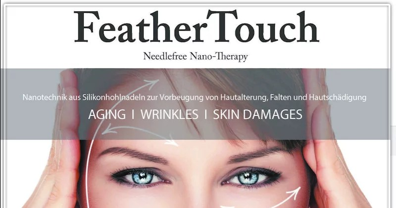 WELTNEUHEIT – FeatherTouch – nadelfreie Nanotherapie