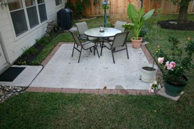 extending patio with stone or pavers