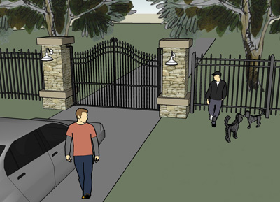 Discover Driveway Entrance Gates  Pictures and Dimensions