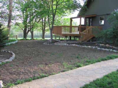 landscaping sloped area