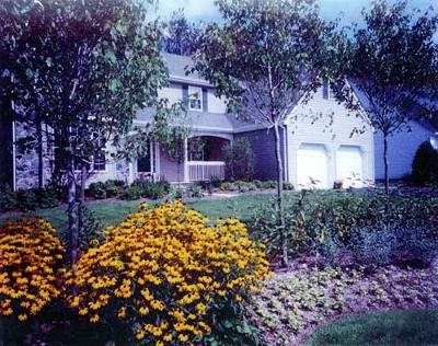 landscaping ranch house