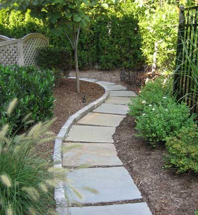 inexpensive stone walkways