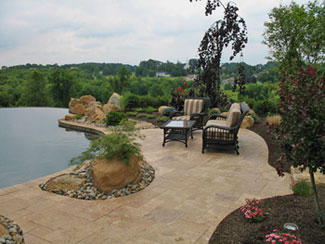 travertine pavers pools