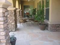 AZ landscape concrete, flagstone, block wall