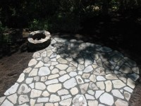 Natural Stone Fire Pit and Patio