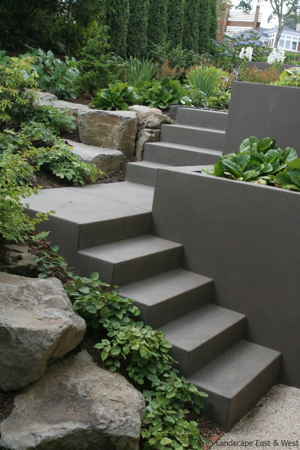 Retaining Walls for Portland Landscaping  Sloped Lots by Susan Hicks