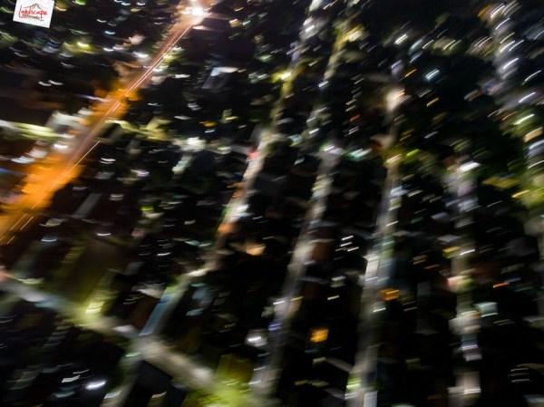 Test Aerial Fotografi di Malam Hari