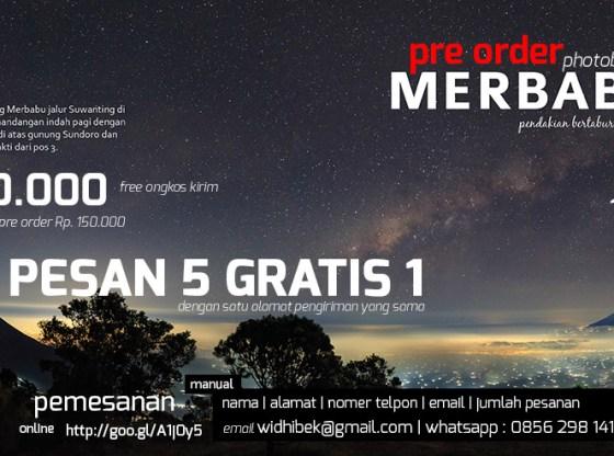 preorder poster - Pre order photobook MERBABU : Perjalanan Bertabur Bintang