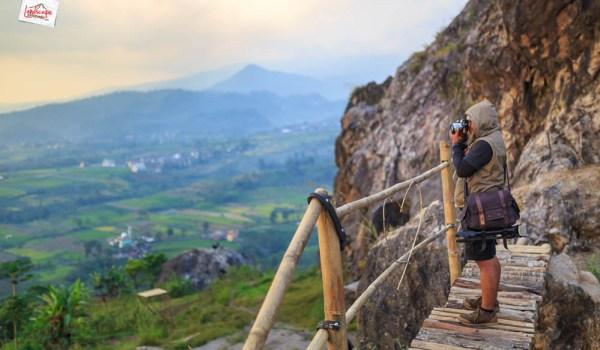 gunung gamping karanganyar - jembatan bambu