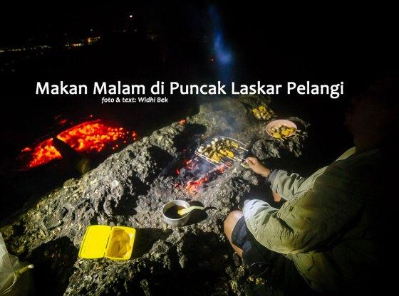 bukit laskar pelangi 0 - Makan Malam di Puncak Bukit Laskar Pelangi