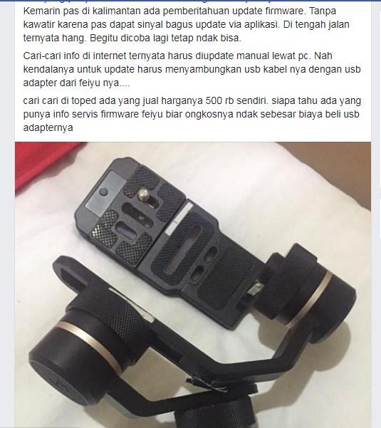 facebook, update firmware gimbal feiyu g6 plus