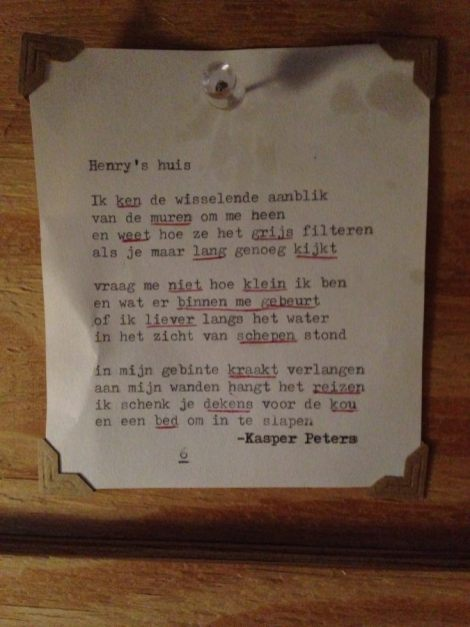 Gedicht over de TAIR door Kasper Peters.
