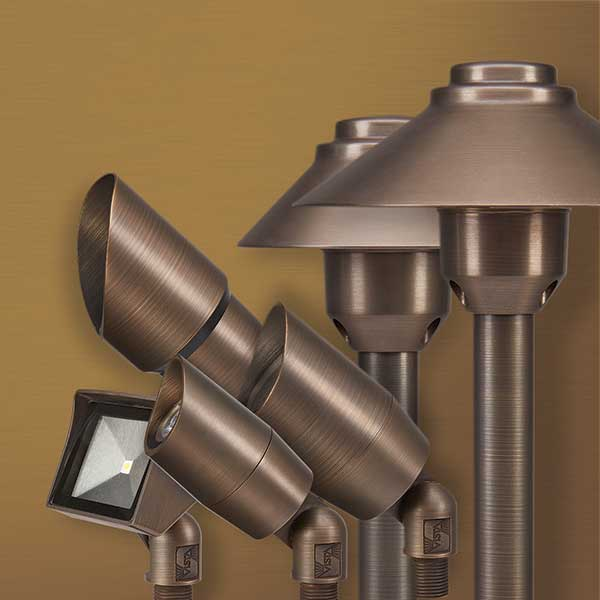 vista introduces solid brass lighting