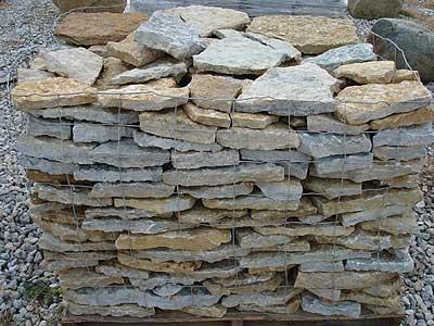 flat rock wall stone garden