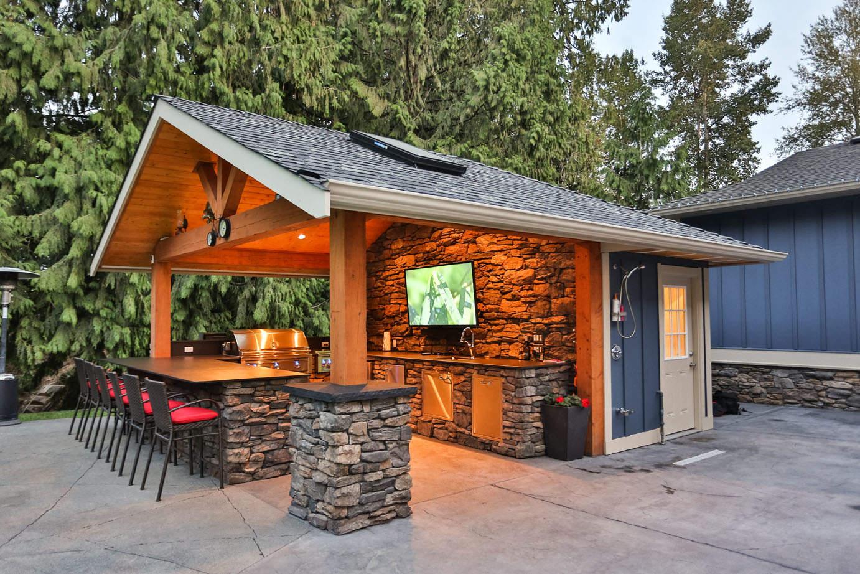 outdoor kitchen design installation
