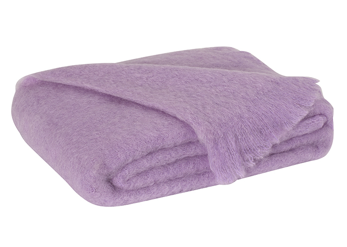 Lilac Brushed Mohair Throw  New Zealand Mohair Throws