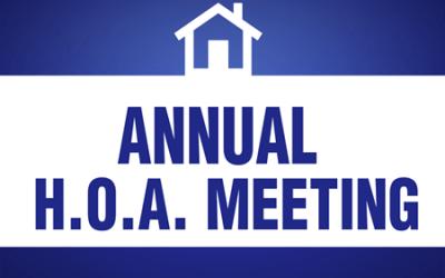 2020 Annual HOA Meeting
