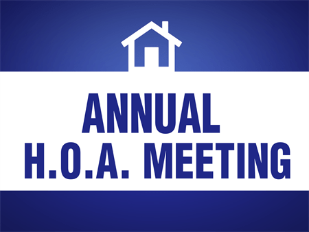 2018 Annual HOA Meeting