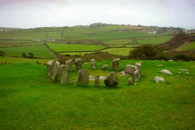 Irish stone circle green