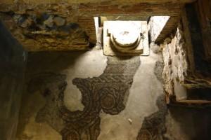 Roman basilica and mosaics underneath Santa Maria Antica