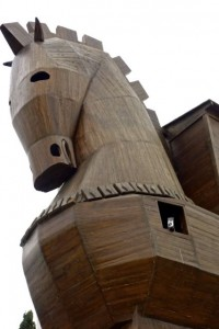 The Trojan Horse built for modern tourists at Troy