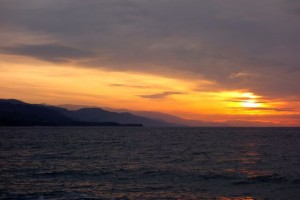 Sunrise over the Northern Aegean