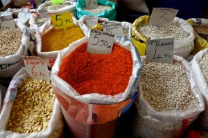 Pulses at the market in Selcuk