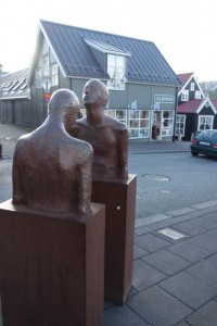 Art abounds in the streets of Reykjavik