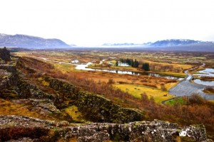 Thingvellir - one side is the North American plate and the other is the European plate