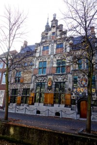 Medieval guild house in Delft