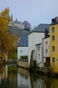 "The ""Low City"" or Grund of Luxembourg carved by the Alzette"