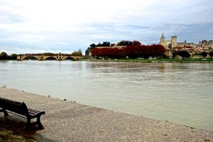The Pont du Avignon and Papal Palace from our campsite