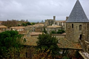 Overlooking the fortified township of Carcassonne