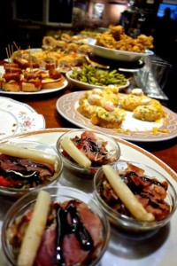 Lovely pintxos entice the pre-dinner crowds