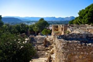 Moorish Castillo on a hill in the middle of medieval Denia