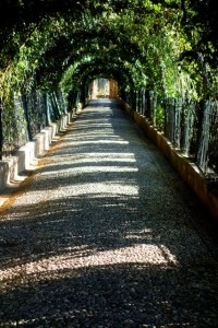 Passageway leading from the Jardines Bajos del Generalife in the Alhambra