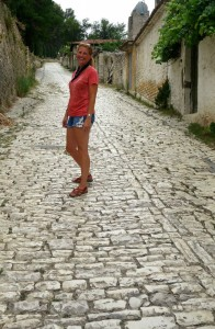 Tammy exploring Berat