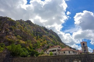 Looking up to Sveti Dorde