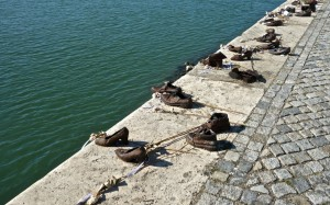 Holocaust memorial on the Danube