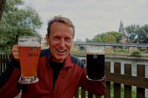 Original Spitalgarten beer in tradition 1liter mugs!