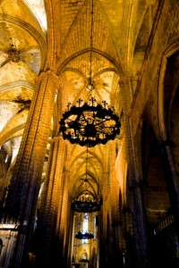 Chandeliers in the Cathedral of Santa Eulalia