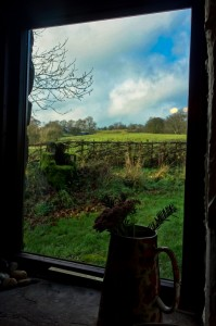 View from our converted barn lodging