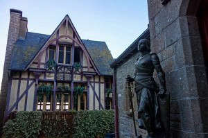 Joan of Arc guards the Church of Saint Pierre