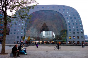 Apartments on the outside and markets on the inside of the Markthal
